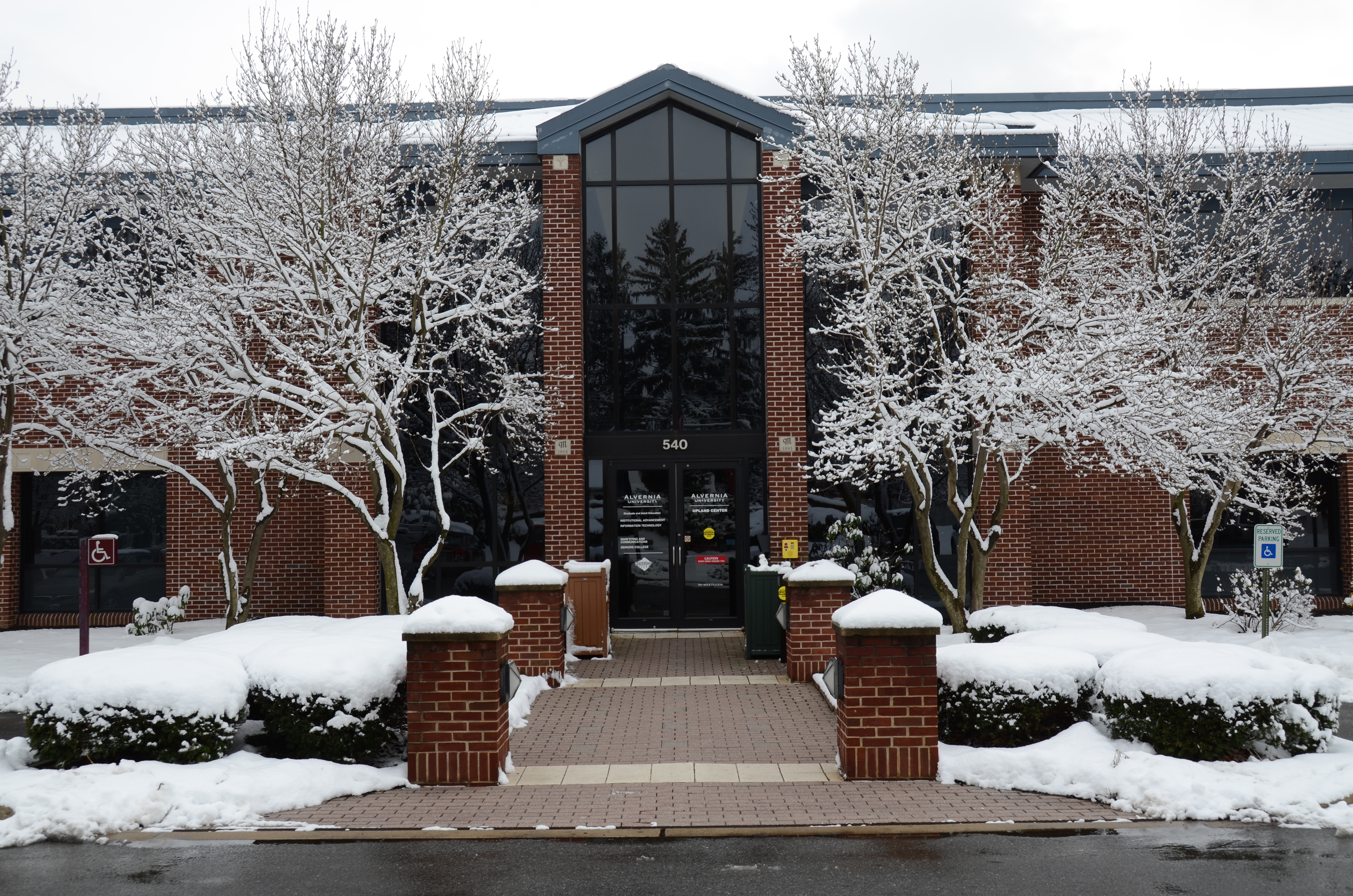 Upland Center in winter