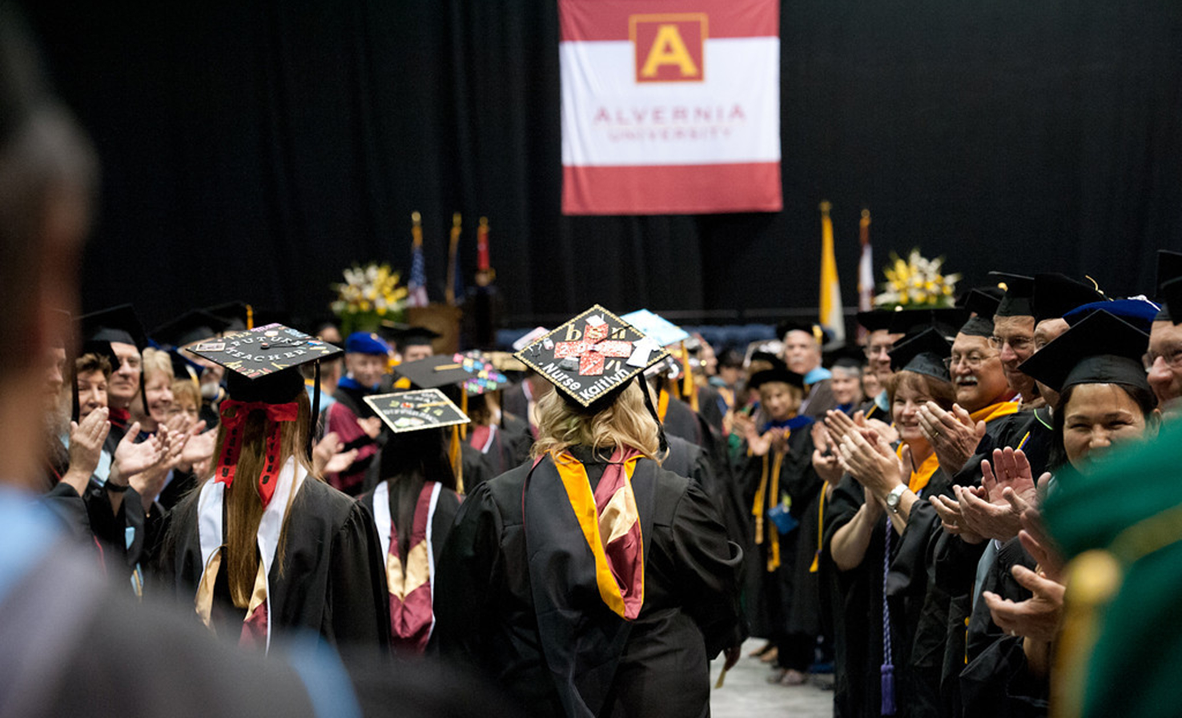 Alvernia graduation ceremony