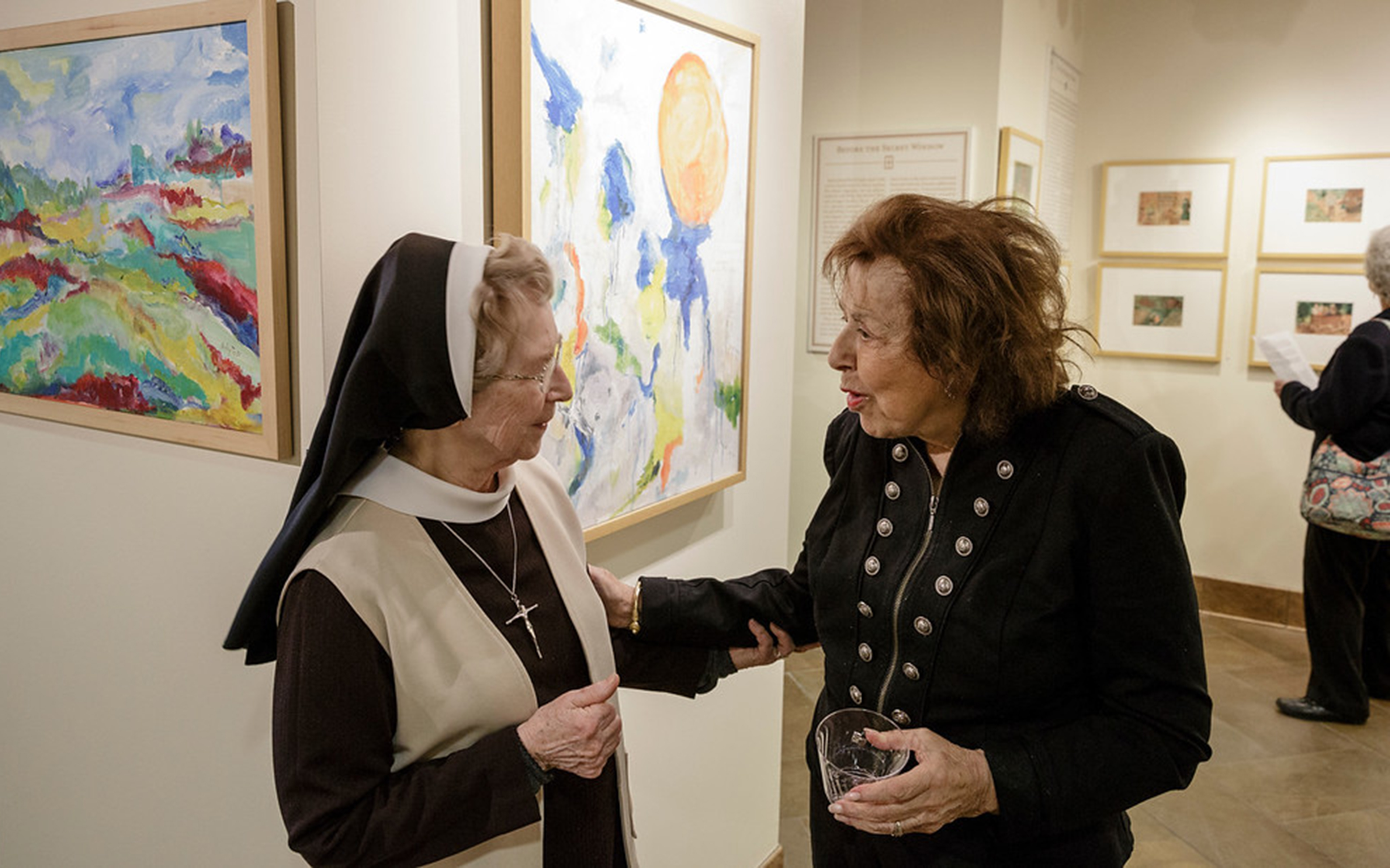 Nelly Toll with Sister Jacinta in the Miller Gallery