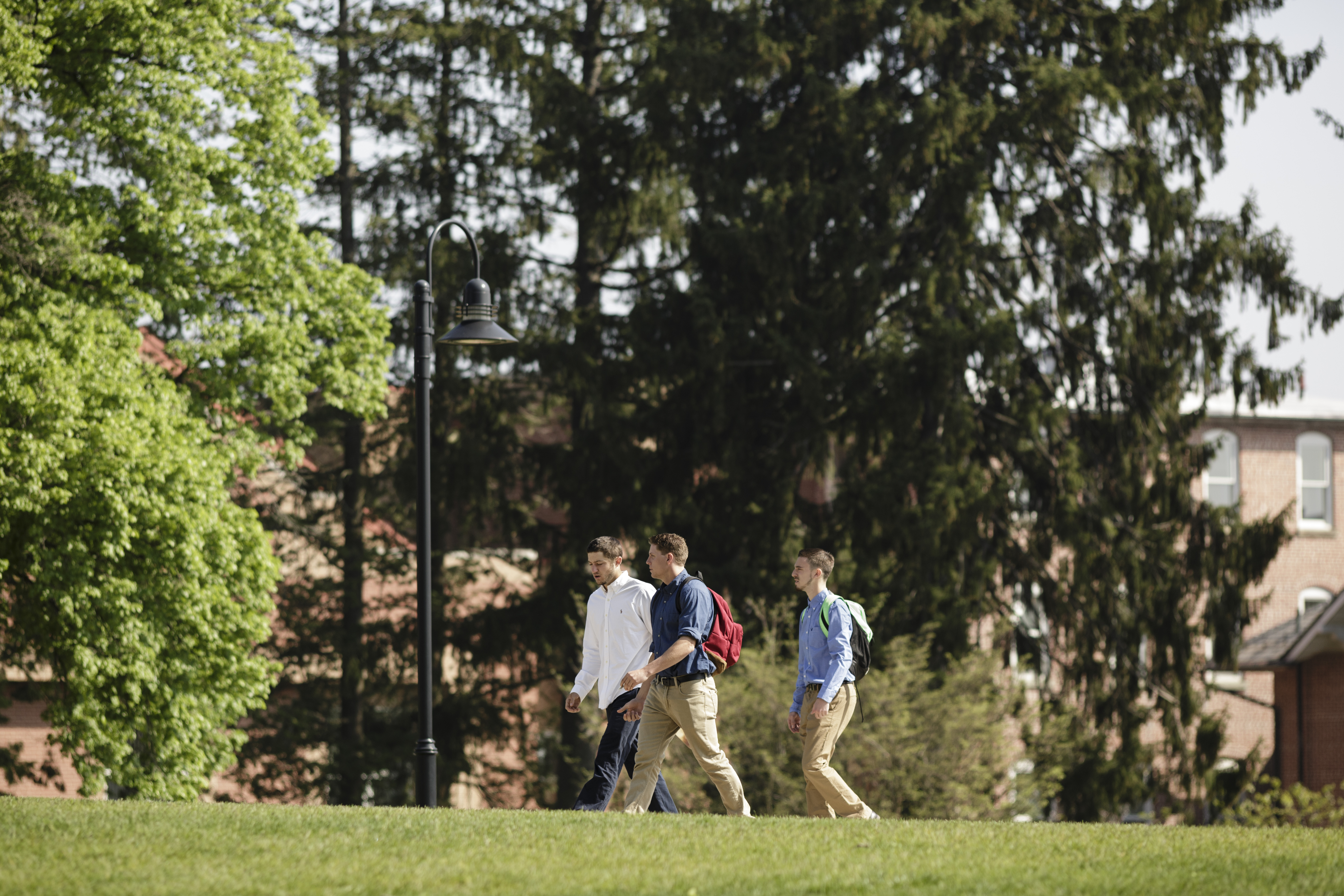Spring Classes Students Walking