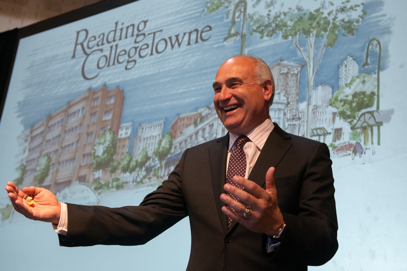 Alvernia University President John Loyack Reading CollegeTowne