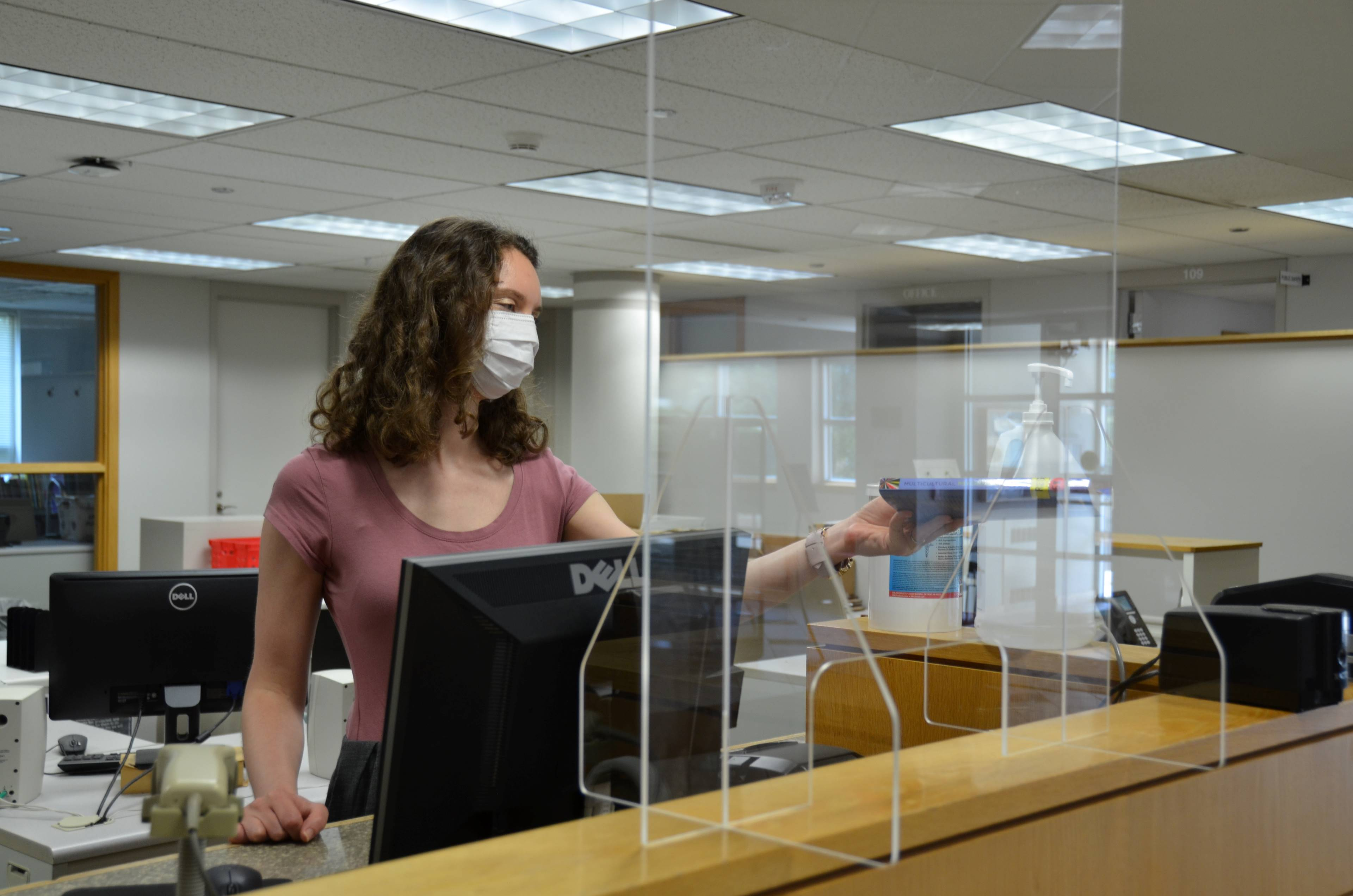 Alvernia University Health and Safety Protocols in Franco Library