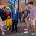 Alvernia President John R. Loyack Welcome Reception with students