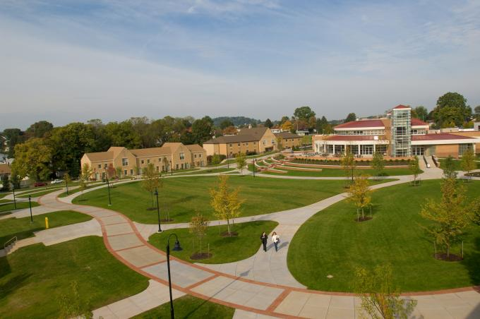 The campus quad