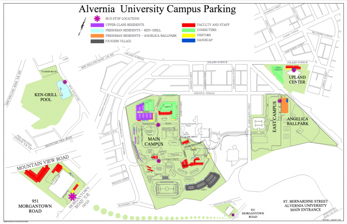 Campus Parking Map January 2016