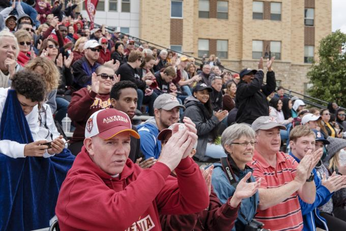 Alumni and Family Fill Bleachers During Homecoming 2018 Football Game