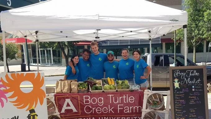 Bog Turtle Creek students at Penn St. Farmer's Market