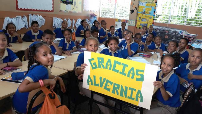 Dominican children in a classroom