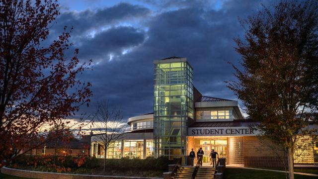 Student Center at night