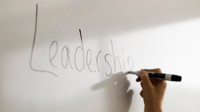 leadership written on whiteboard
