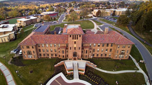 Francis Hall aerial view